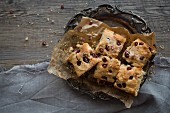 Pomegranate Scone Loaf cut into squares