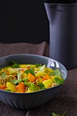 Savoy cabbage and potato curry