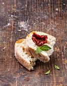 Bread ciabatta with Sun dried tomatoes