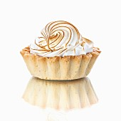 Vanilla beige Cupcake on white background