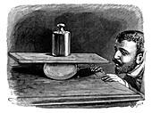 Gas pressure experiment, 19th century