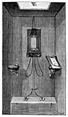 Arsonval telephone station, 19th century
