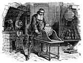 Otto von Guericke and electrostatics, 17th century
