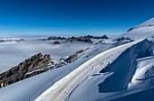 Snow-covered Alps, Switzerland