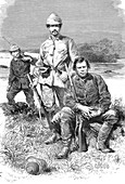 Edouard Pokock, Frank Pokock and Frederic Barker, explorers