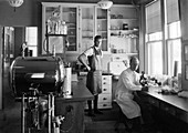Bacteriology research, 1930s