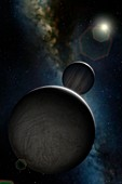 Artwork of Jovian Moon Europa