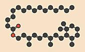 Vitamin A supplement molecule, illustration