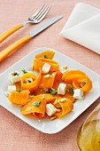 Carrot salad with feta and pine nuts