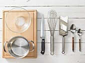 Kitchen utensils for making a crab salad