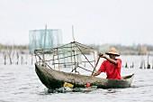Fischerboot am Pangalanes Lakes Kanalsystem, Tamatave, Madagaskar, Afrika