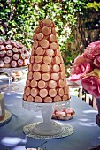 Festive macaron pyramid