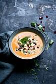 Pumpkin soup with coriander