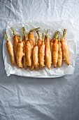 Carrots in beer batter (vegan)