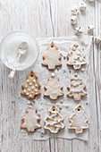 Tree shaped edible christmas tree decoration biscuits