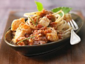 Wholegrain linguine with fish and vegetable bolognese