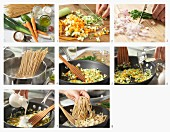 How to make linguine with vegetables and chives