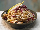 Pasta with pears, radicchio and walnuts