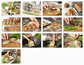 Garnelen-Ravioli mit Kokos-Curry-Sauce zubereiten