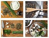 Kürbiskernquark mit Schnittlauch zubereiten