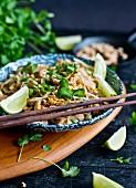 Pad Thai with chicken (Thailand)
