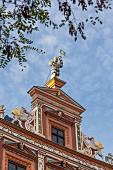 The Renaissance gable on the 'Haus zum Breiten Herd' in Erfurt, Thuringia, Germany