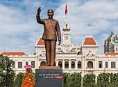 Ho-Chi-Minh Denkmal in Ho-Chi-Minh-Stadt, Vietnam