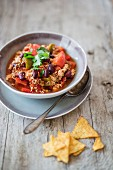 Chilli con carne with tofu
