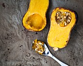 Roasted butternut squash halves
