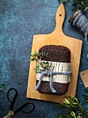 Scandinavian malt and rye bread as a gift