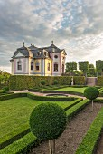 The Rococo palace, part of the complex of three Dornburger Palaces from different style eras, Thuringia, Germany