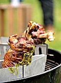 Grilled goat's leg