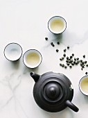 Jasmine tea pearls and tea set