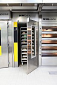 An industrial proofing cabinet for bread