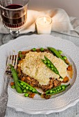 Shepherds pie with pea pods