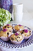 Banana and peanut muffins with chocolate chips
