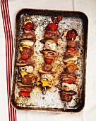 Italian meatball skewers with tomatoes and mozzarella