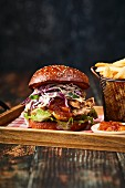 Pork belly coleslaw burger