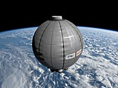 Inflatable space habitat, illustration