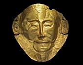 The golden mask of Aggamemnon.