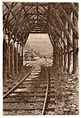 Pacific railroad snowshed
