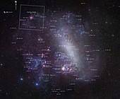 Large Magellanic Cloud, annotated image