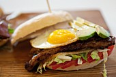 Steak and Egg Prego roll