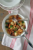 Gnocchi with chanterelle mushrooms