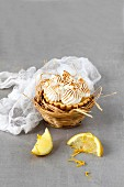 Lemon Meringue Tartlet with space for text