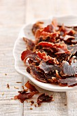 South African ostrich biltong (dried meat)