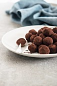 Chocolate Truffles Rolled in Cocoa