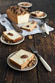 Vanilla Loaf Cake with Caramelized Nuts