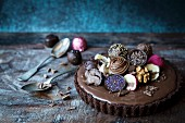 Chocolate pie with chocolates