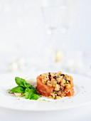 Smoked salmon tartar for Christmas